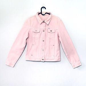 Vintage Guess baby pastel pink denim jean jacket